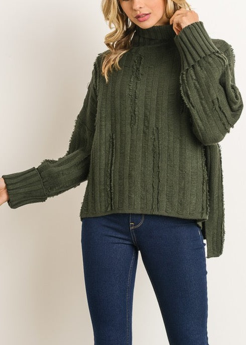 CALLIE HUNTER GREEN SWEATER TOP