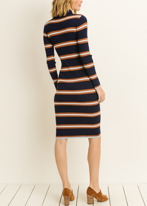 SABRINA NAVY TIGHT DRESS