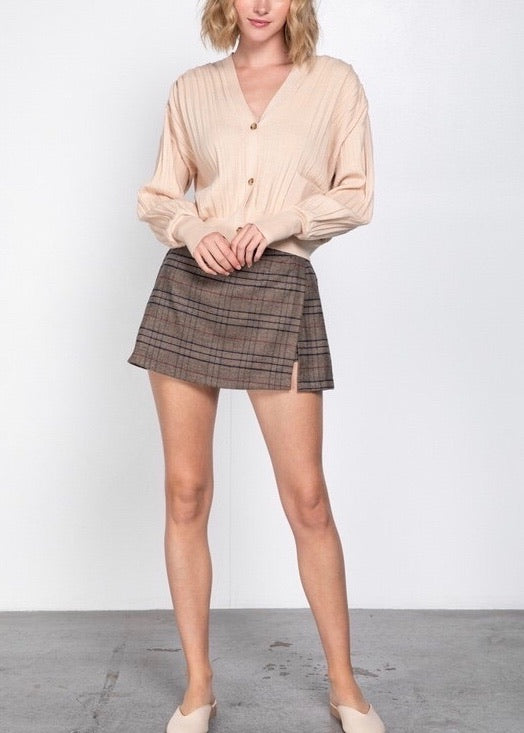 CHER PLAID SKORT