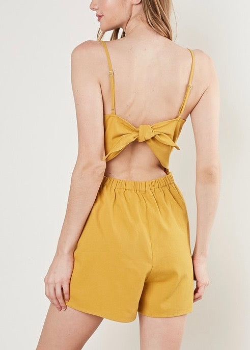 ROMPER WITH BACK TIE