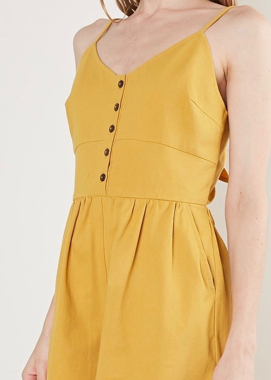 ROMPER WITH BUTTON DETAILS