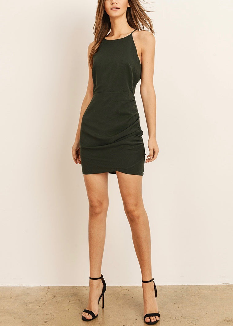 MONICA HIGH NECK MIDI DRESS