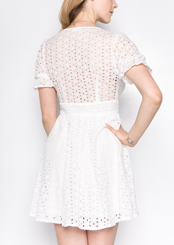 SANDY EYELET BABY DOLL DRESS