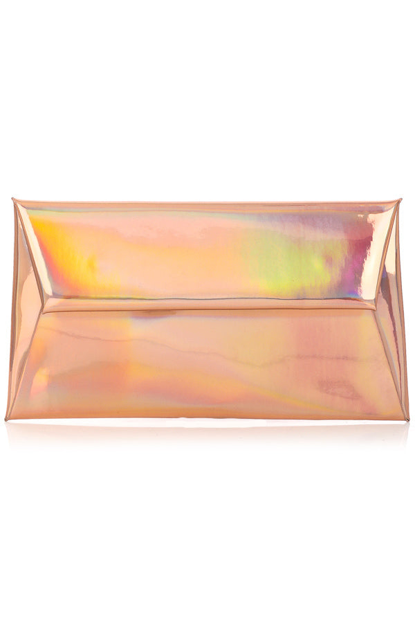 BLAIR IRIDESCENT BLUSH ENVELOPE CLUTCH
