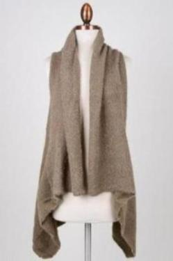 LONG KNITTED VEST SHAWL