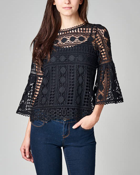 MACEY BELL SLEEVE TOP