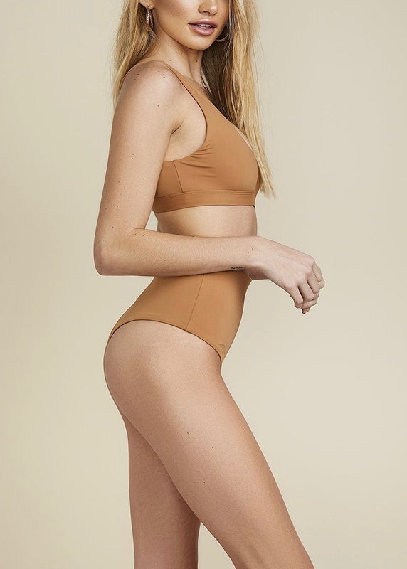 CARAMEL HIGH WAIST BOTTOMS
