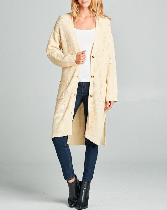 MISTY LONG KNIT CARDIGAN
