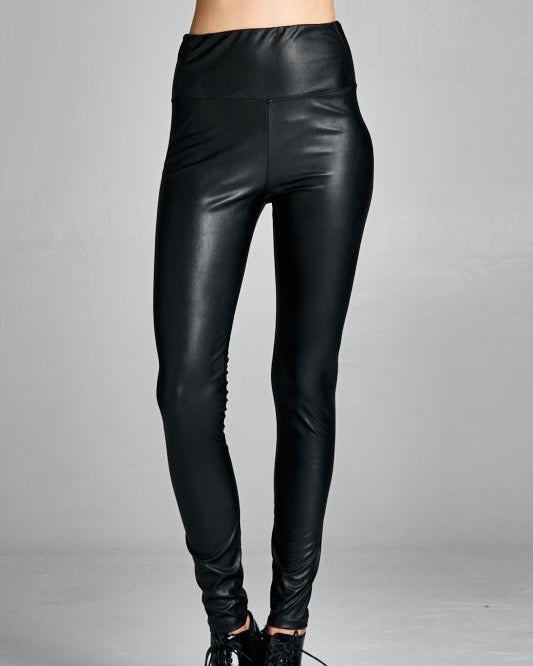 LESLIE VEGAN LEATHER LEGGINGS