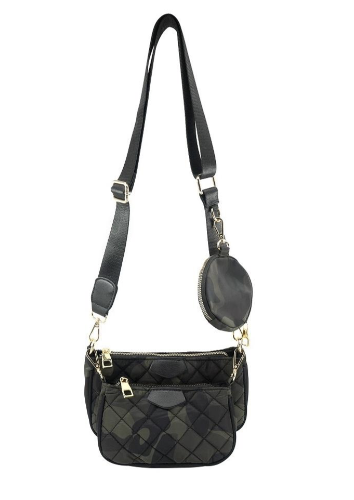 QUILTED MULTI BAG CROSSBODY