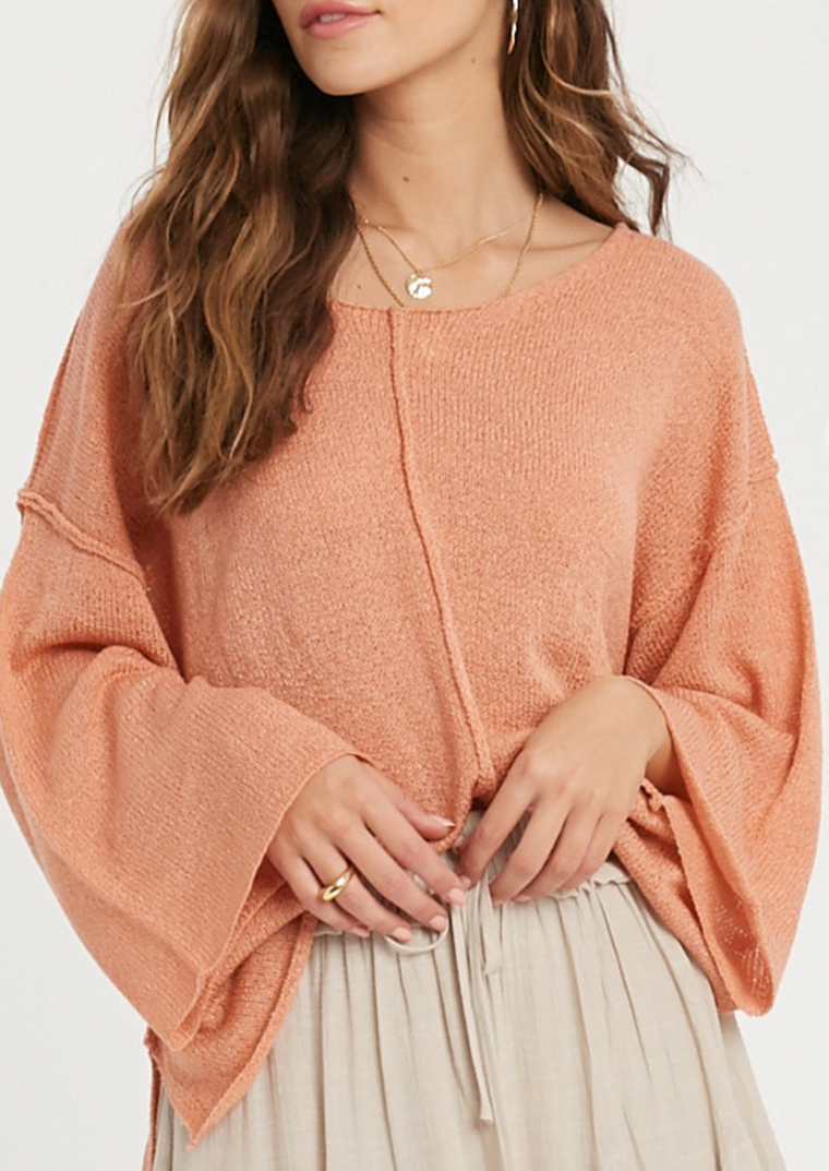 ANI RAW EDGE SWEATER