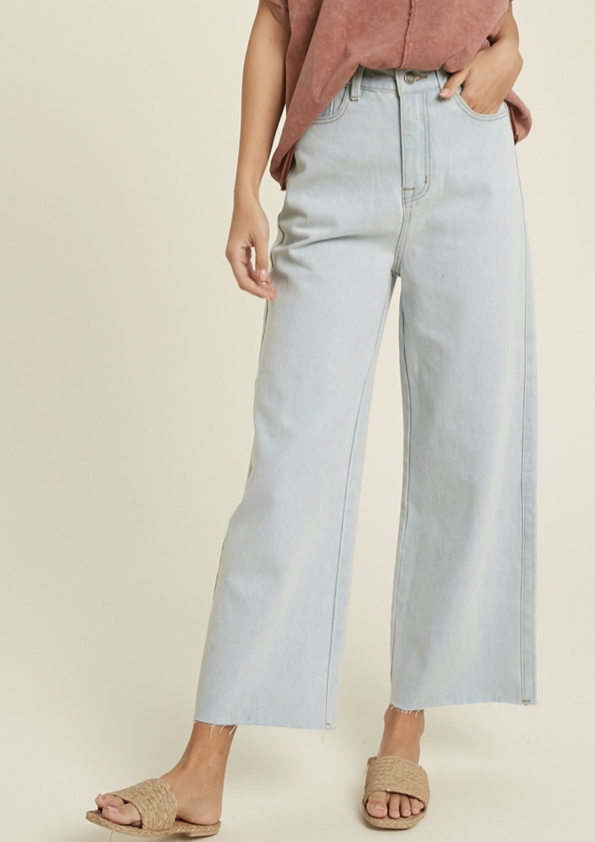 MAE WIDE LEG HIGH RISE JEANS