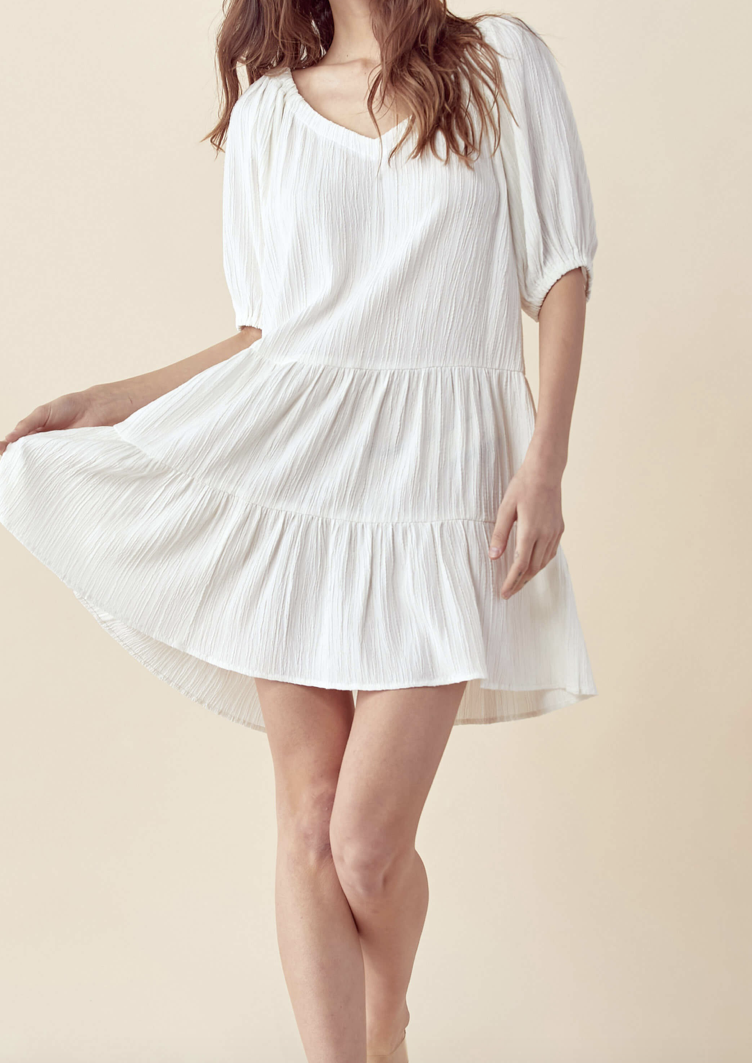 KELI V NECK DRESS