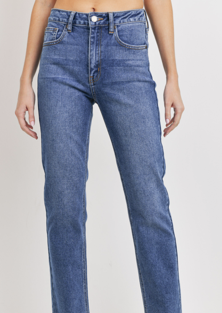 COOKE MEDIUM WASH STRAIGHT LEG JEANS