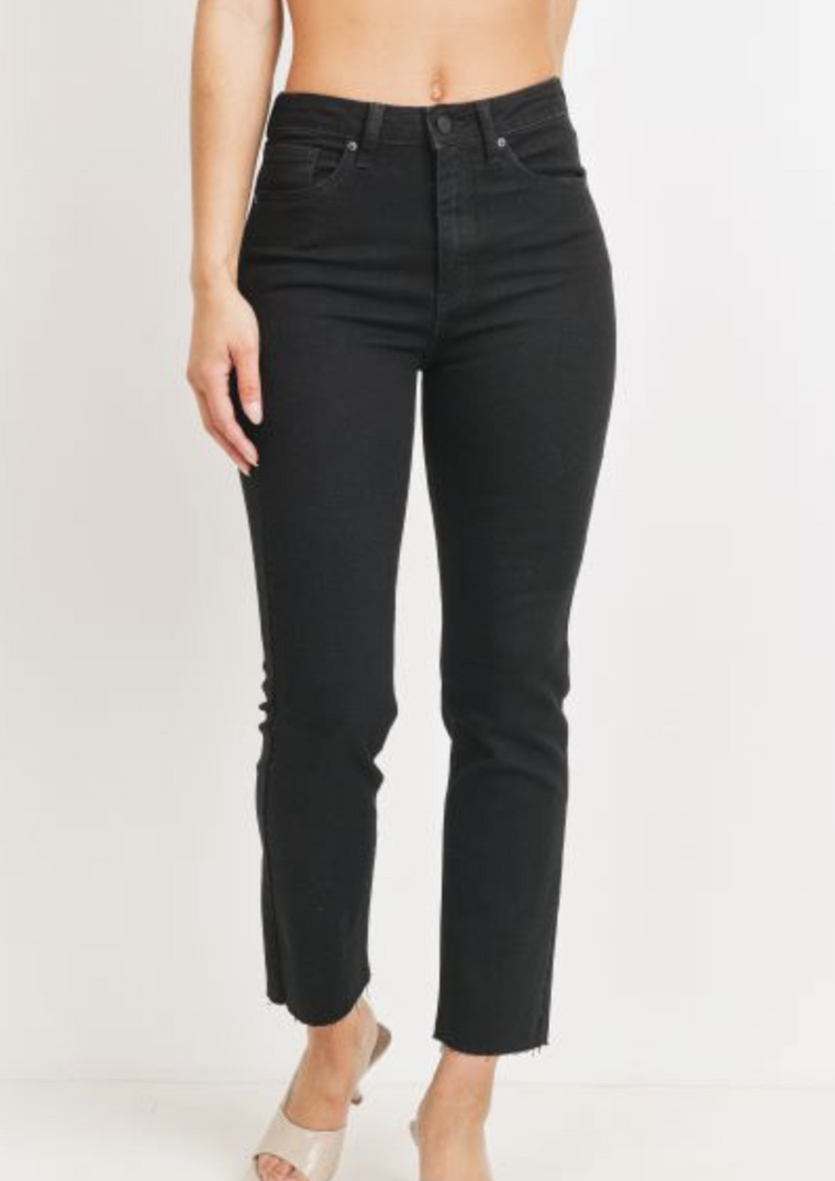 REED BLACK STRAIGHT LEG JEANS