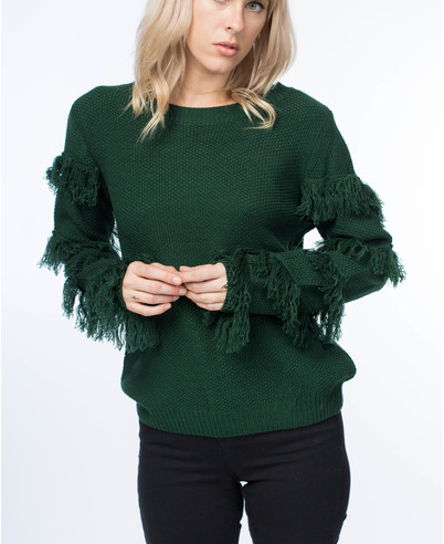 GIGI FRINGE SWEATER