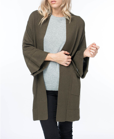 MID LENGTH KNIT CARDIGAN SWEATER