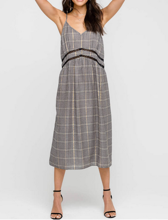 DALIA PLAID STRAPPY DRESS