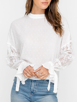 BETTY CLIP LACE TOP
