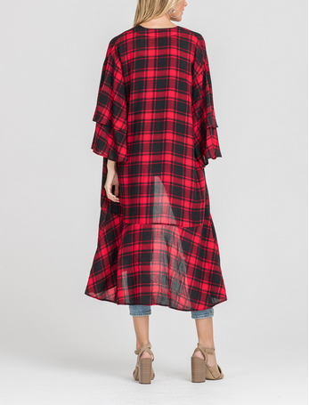 BECCA PLAID COVER UP