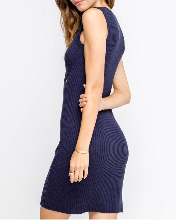 MIA TWIST FRONT SWEATER DRESS