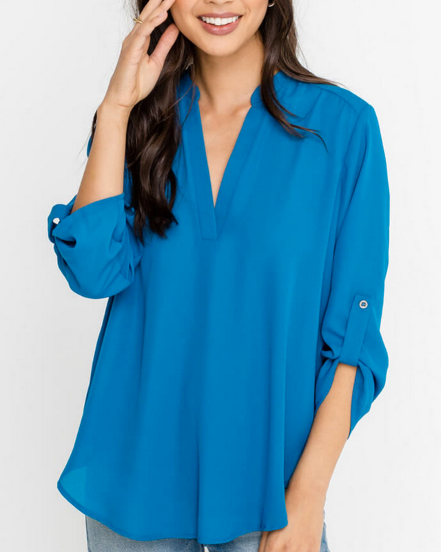 SINA OPEN V NECK TOP