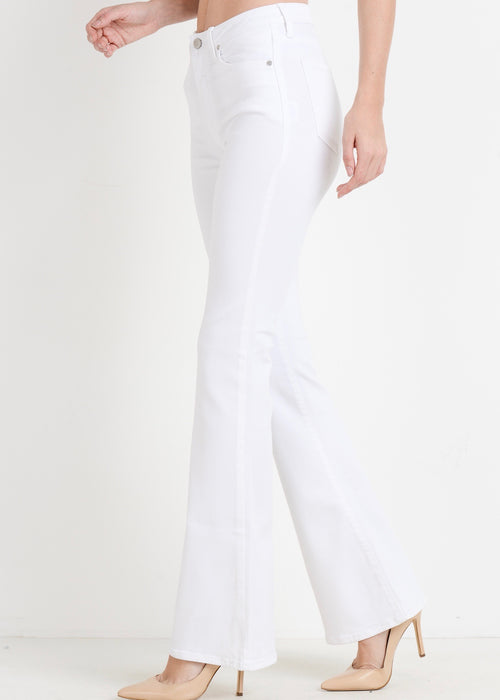 KELLY WHITE SKINNY FLARE JEANS