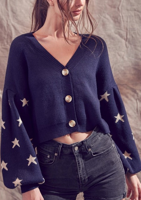 SEEING STARS CROPPED CARDIGAN