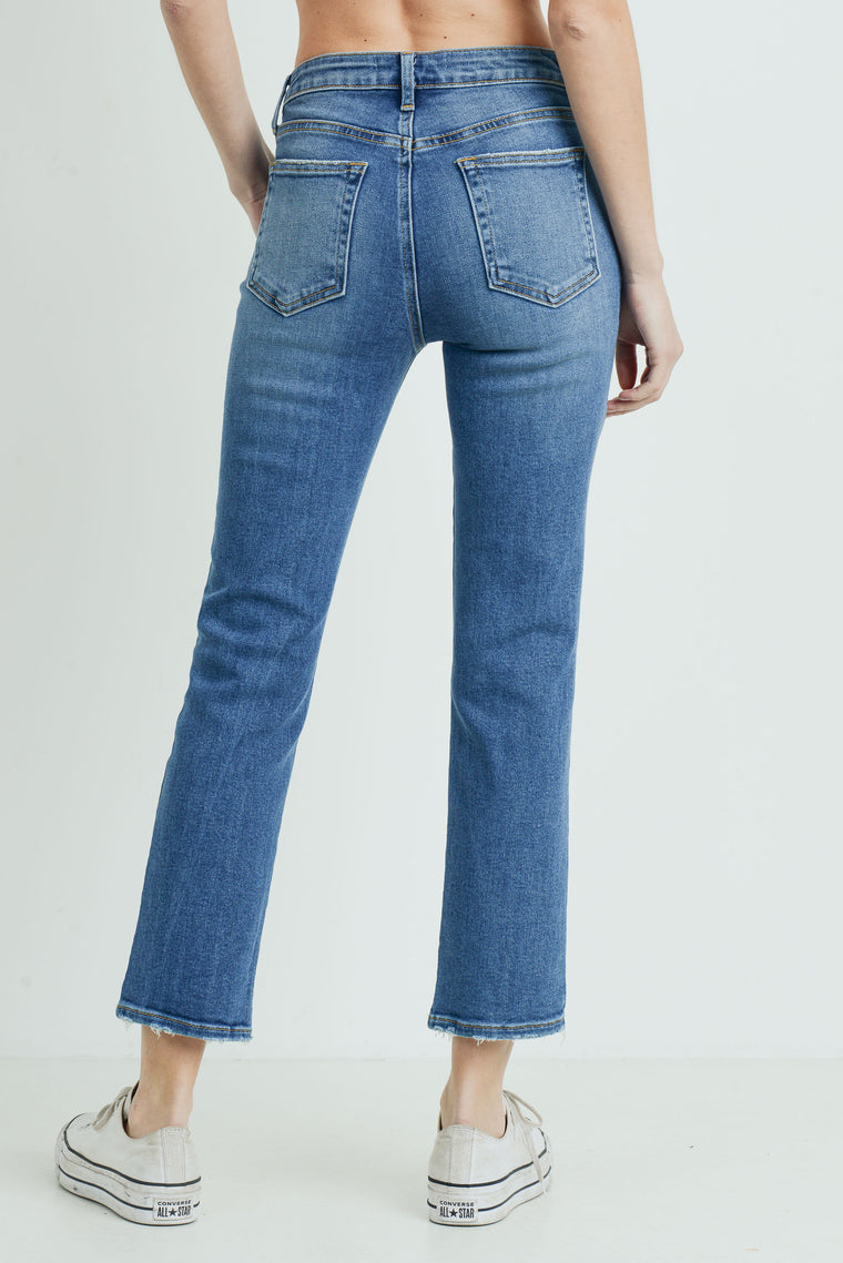AUGUST SLIM STRAIGHT JEANS