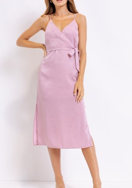 ALLIYAH SATIN MIDI DRESS