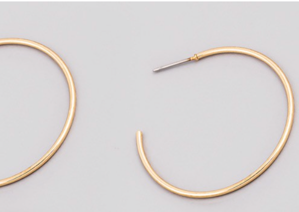 THIN GOLD HOOPS