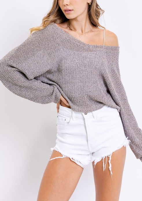 PENNY KNIT CROPPED SWEATER