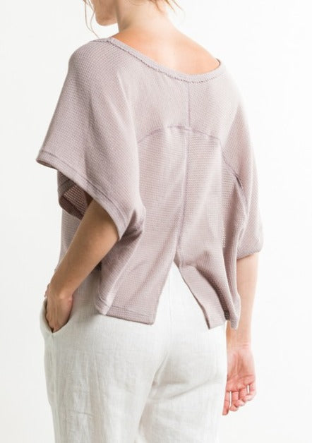 split back knit tee