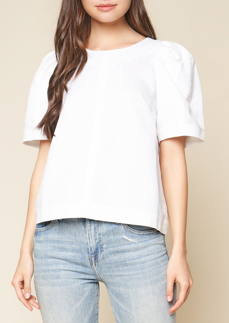 SPENCER PUFFED SLEEVE BLOUSE