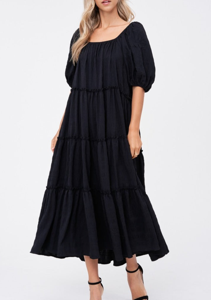 ANNIE TIERED MAXI DRESS