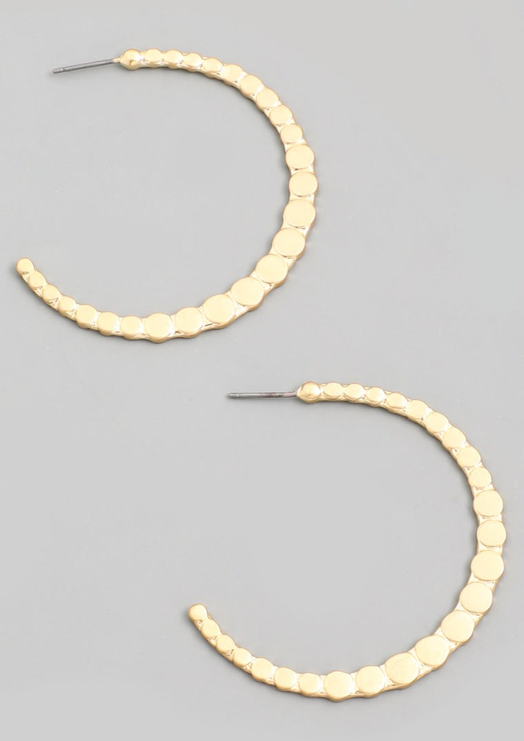 TINA CRESCENT MOON HOOPS