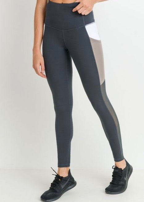 BELLA COLOR BLOCK LEGGINGS