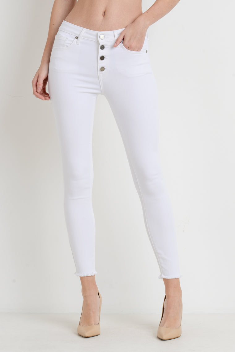KAREN WHITE BUTTON DOWN JEANS