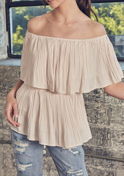 JAN FLOWY OFF THE SHOULDER TOP