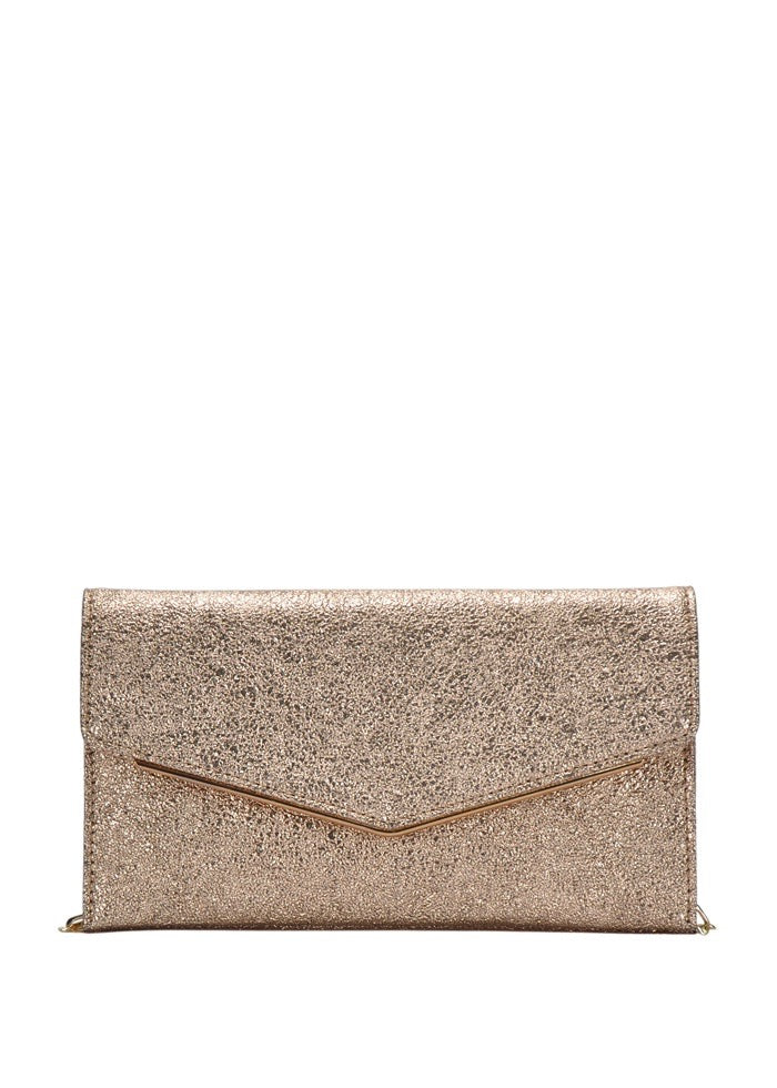 ELLE GOLD ENVELOPE CLUTCH