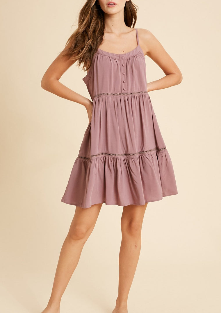 ANNIE TIERED MINI DRESS
