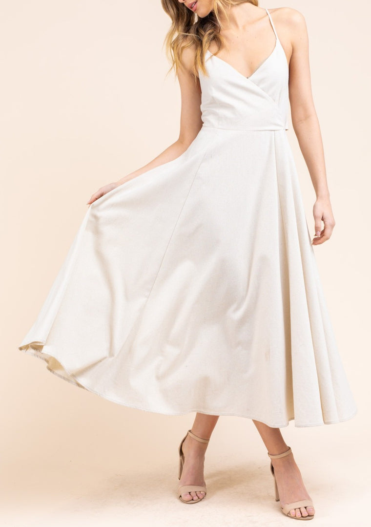 HANNA SURPLICE DRESS