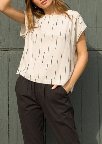 KOURTNEY LINEN TOP