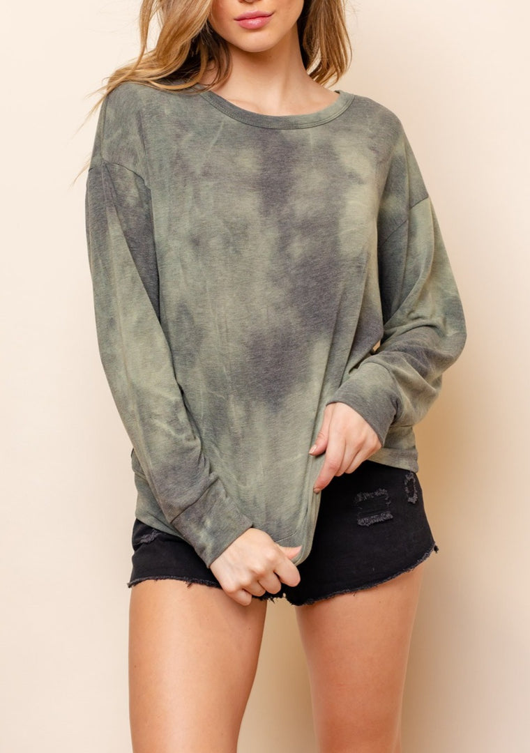 SHELLY TIE DYE SWEATSHIRT