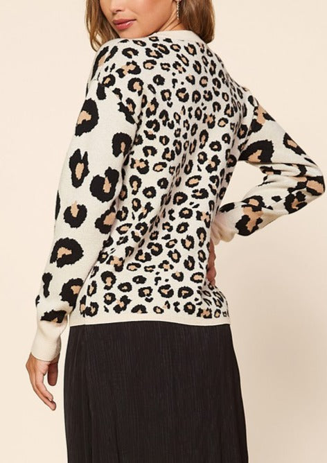 LANEY LEOPARD PRINT SWEATER