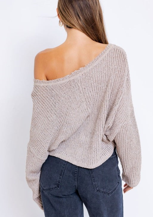 PENNY OVERSIDED CROP SWEATER