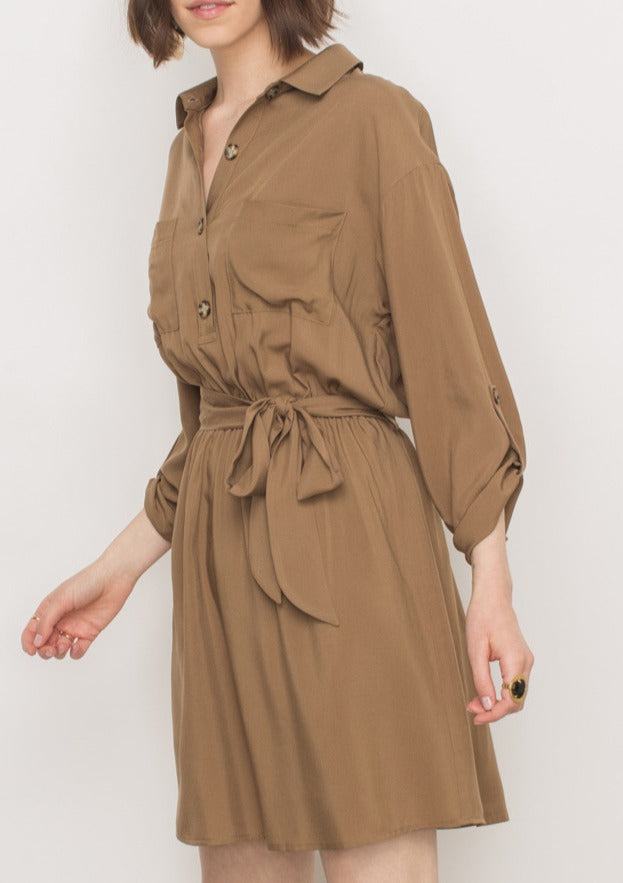LARISSA SHIRT DRESS