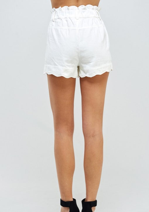 SERENA SCALLOPED PAPERBAG SHORTS