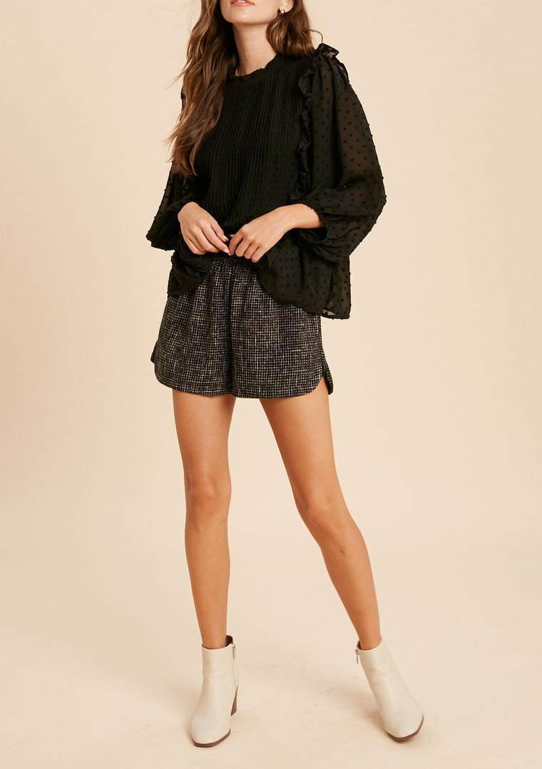 NESMINA TWEED SHORTS