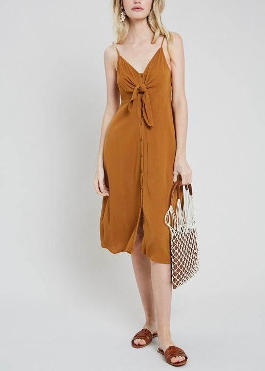 LANEY BUTTON DOWN MIDI DRESS